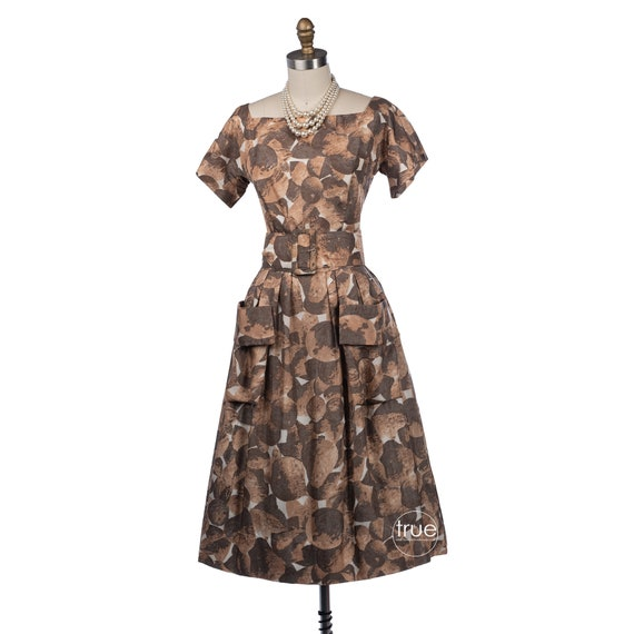 vintage 1950's dress ...autumn bounty Gigi Young i