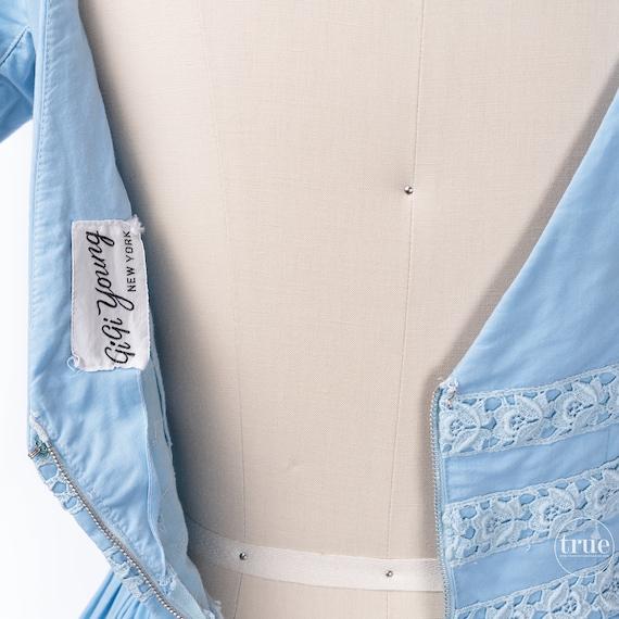 vintage 1950's dress ...pretty blue cotton Gigi Y… - image 5