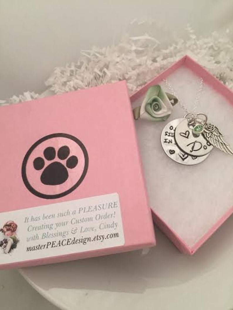 Once by my side Necklace Pet Lover Jewelry 4 Charm Pet Memorial Jewelry Dog Lover In Memory Of Birthstone Forever in my Heart