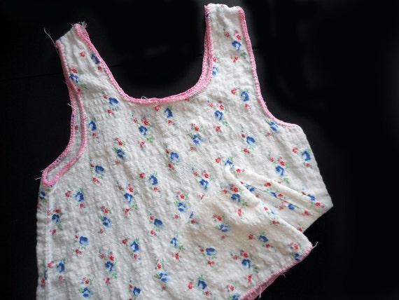 562dad8c18d3 Vintage Handmade Baby Slip Dress Seersucker Pink and Blue