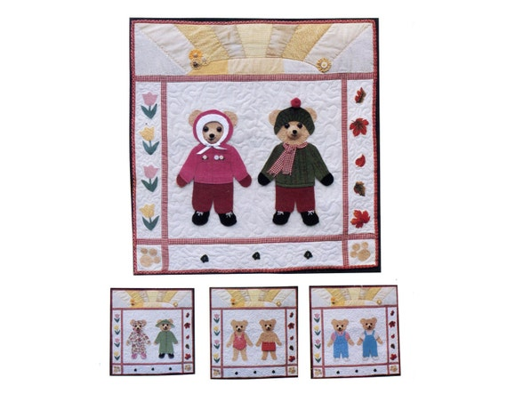 Dress Up Teddy Bear Quilt Pattern Paper Doll Quiet Time Nap Etsy