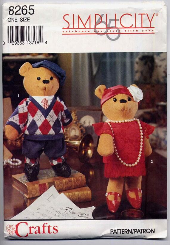 20er Bär Muster Jahrgang Rag Zeit Teddybär Schnittmuster   Etsy