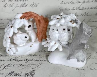 Hallmark Vintage bone China figurines Christmas is sharing peaceful 1988 1989