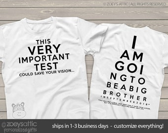 575366ade big brother front back funny eye test shirt - pregnancy announcement funny  t shirt MEYE-001