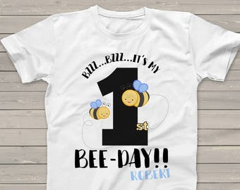 It's my bee-day personalized Tshirt- adorable for the birthday boy or girl  MBD-028