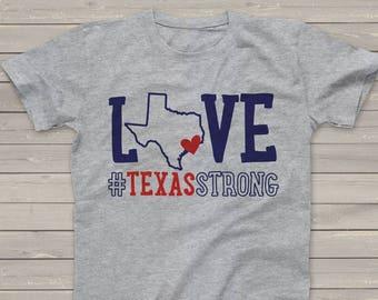 Hurricane Harvey Fundraiser tshirt #texasstrong TXS-001