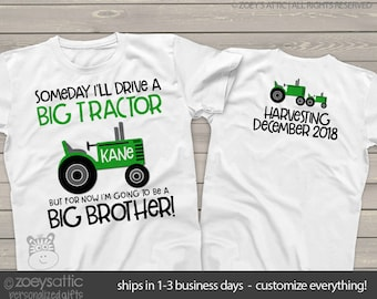 tractor big brother shirt perfect pregnancy announcement for the big brother to be MTRC-002