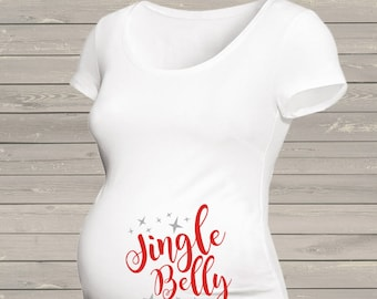 Maternity Christmas jingle belly maternity or non maternity pregnancy top MMAT-008