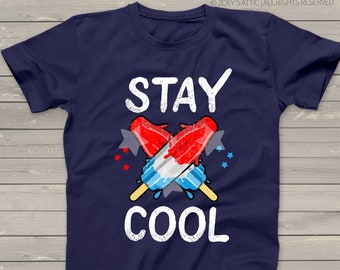 3416ae45f July 4th shirt | stay cool red white blue bomb pop kid dark tshirt | fun  shirt for Independence Day snlJ-030