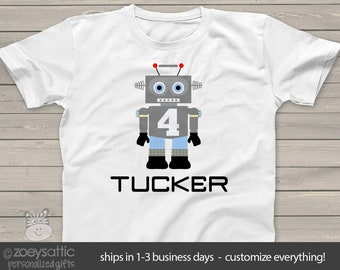 ROBOT Birthday Boy shirt - perfect for the robot themed party or fan in your life MBD-118