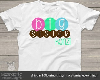 Custom big sister multicolor circles Tshirt MSMP-026