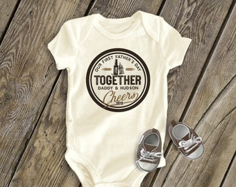 e1c7d230d First Father's Day together CHEERS best buds beer and bottle   adorable 1st  Father's Day gift from son or daughter   cheers shirt mdf1-105a
