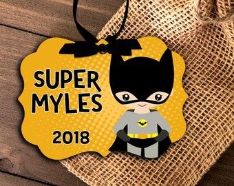 superhero ornament | boy's superhero ornament | bat costume boy ornament | pick your super character | annual boys ornament MBO-039