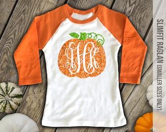 Monogrammed Halloween Shirt Or Bodysuit Girls Pumpkin Shirt Or Bodysuit Halloween Shirt Headband Personalized Pumpkin