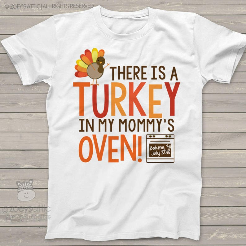 ee9b9258 Thanksgiving big brother to be shirt turkey in mommy's   Etsy