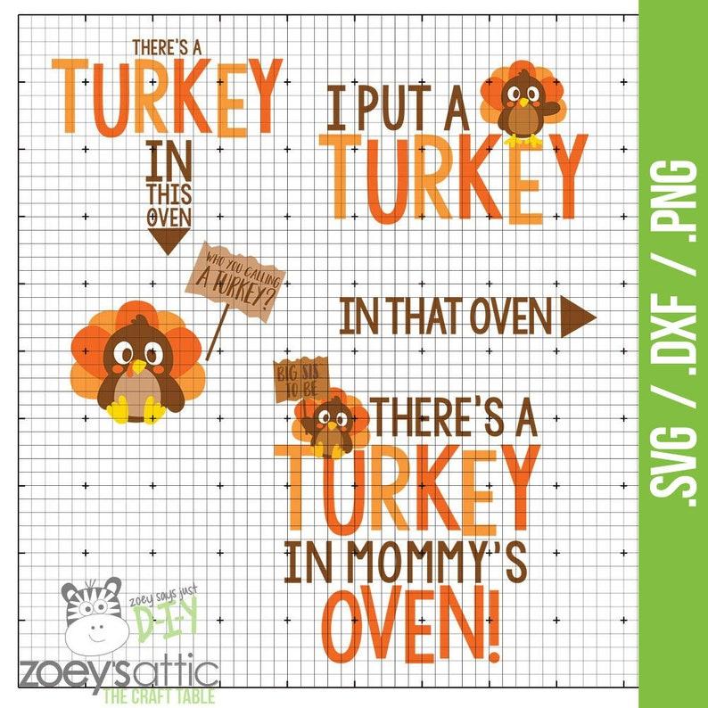 f5f4719c80006 Turkey oven mom dad big sis bundle put a turkey oven .svg | Etsy