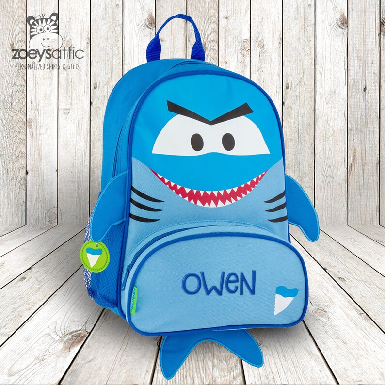 44705d0efc Shark backpack cute shark sidekick backpack personalized