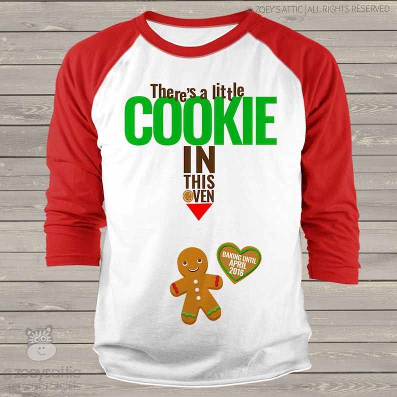 7e10c3ebfec44 Mommy Christmas shirt cookie in oven pregnancy | Etsy