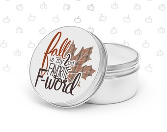 candle gift fall is my 2nd favorite f-word funny candle hilarious fall candle for self friend family co-worker gift autumn soy blend candle
