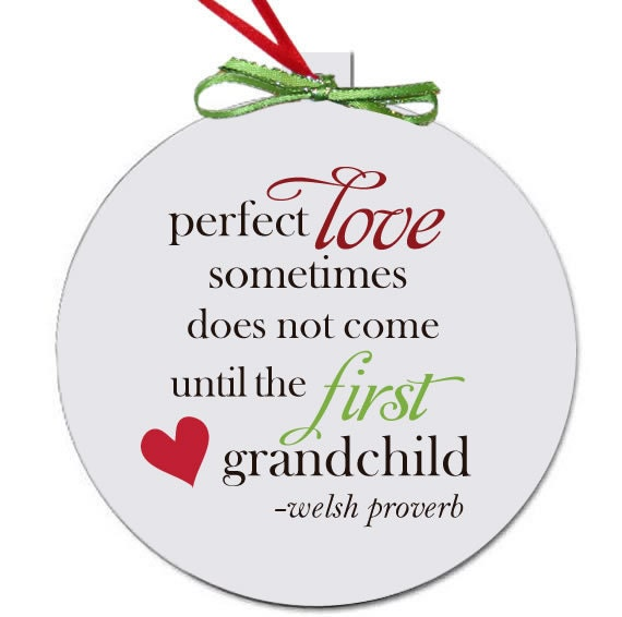 Grandparent Christmas ornament perfect first time ...