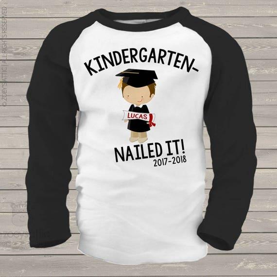 2d7ecdb5 Kindergarten graduation shirt funny kindergarten nailed it | Etsy