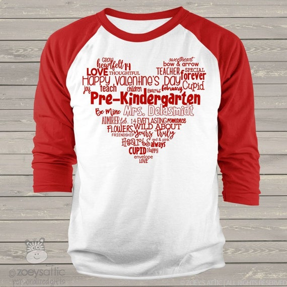 bc5bce72295 Teacher shirt Valentine s day teacher shirt heart teacher