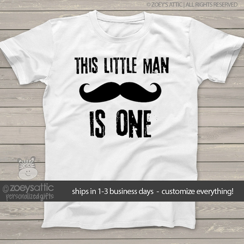 9331b4a2c Little man mustache first Birthday shirt this little man | Etsy