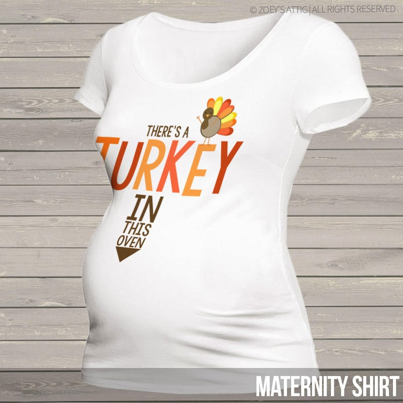 e729e21ebeebc Turkey in the oven thanksgiving maternity top long or short | Etsy