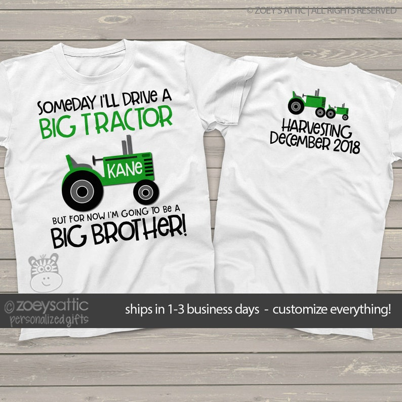 tractor big brother shirt perfect pregnancy announcement for image 0