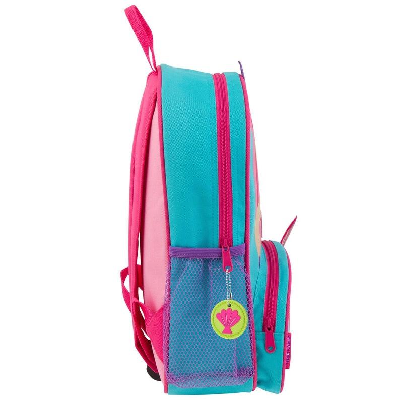 backpack by Stephen Joseph SJ-1020-28 personalized embroidered school bag cute mermaid sidekick backpack mermaid backpack