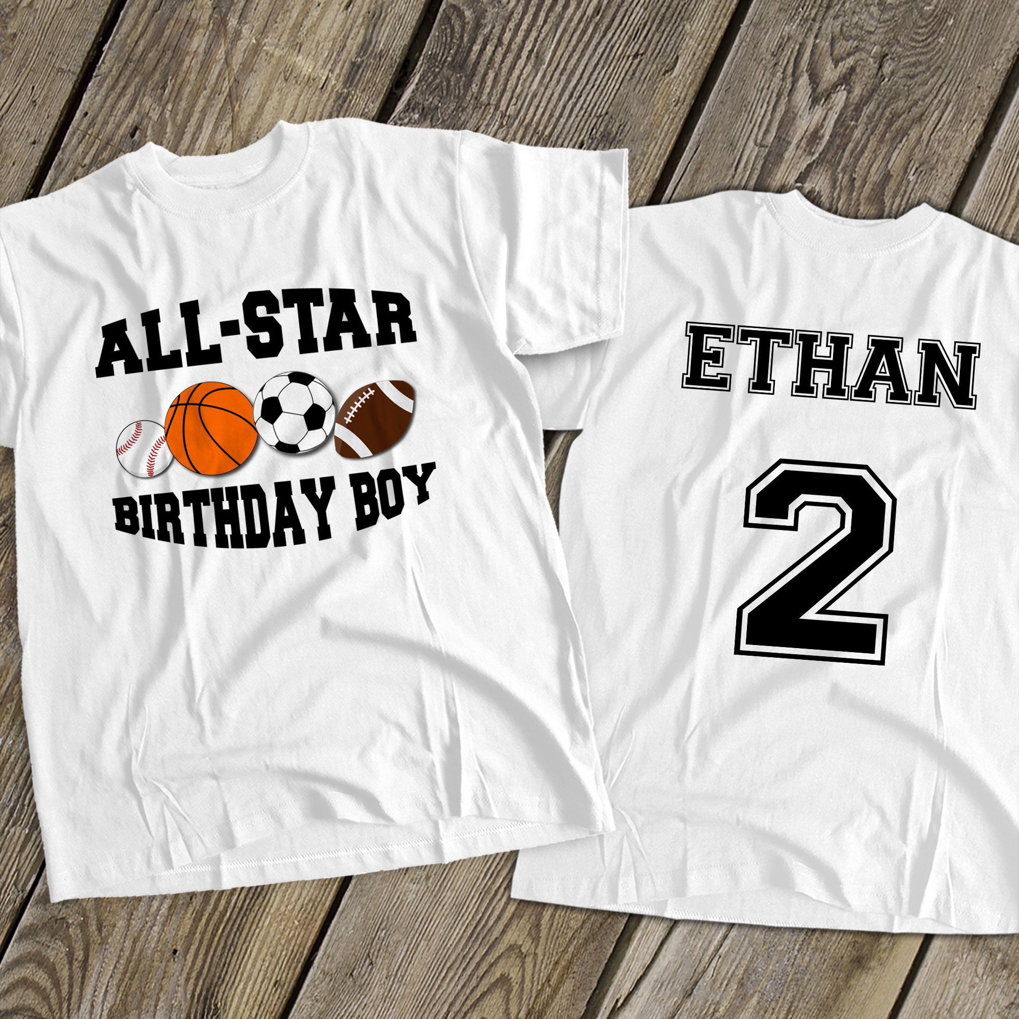 Sports Birthday Boy Shirt Soccer Baseball Football Basketball Sports Theme Tshirt Birthday Shirt Mbd-060 Unisex Tshirt