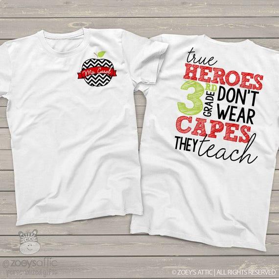 Black Unisex 2nd Grade Teacher T-shirt I/'m Awesome 199 Funny T-shirt White