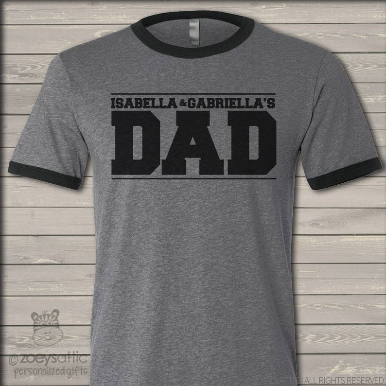 e5359f01 Dad shirt custom dad shirt personalized with kids names | Etsy