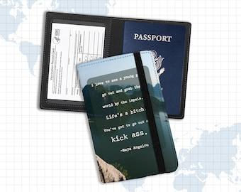 Vaccine and passport holder   document holder maya angelou quote   proof of vaccination passport identification holder pph-002
