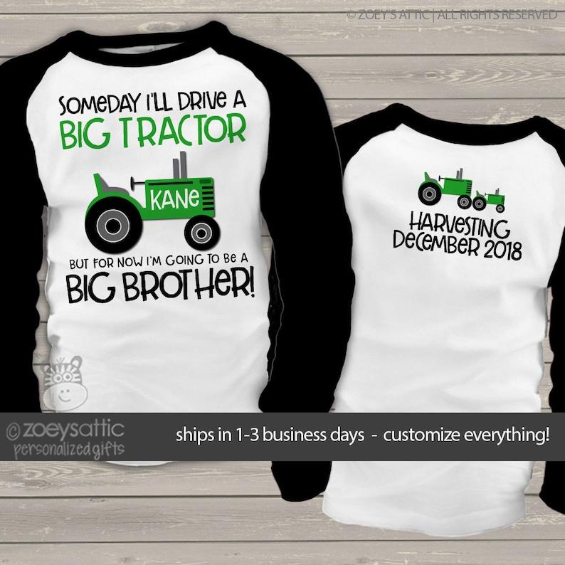 f38a419e Tractor big brother shirt someday i'll drive a big tractor   Etsy