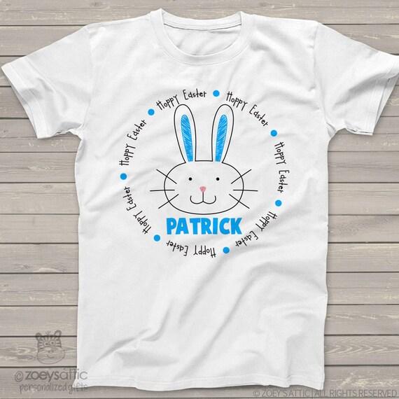 Easter tshirt boys easter bunny hoppy easter shirt SNLE ...