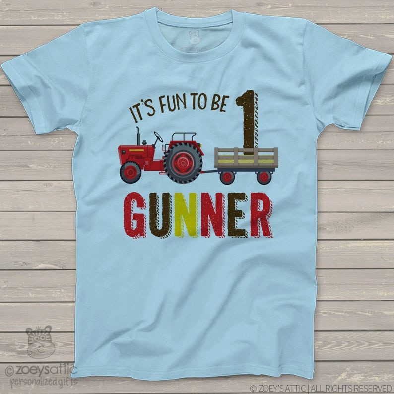03aa182b First birthday red tractor personalized 1st birthday shirt | Etsy