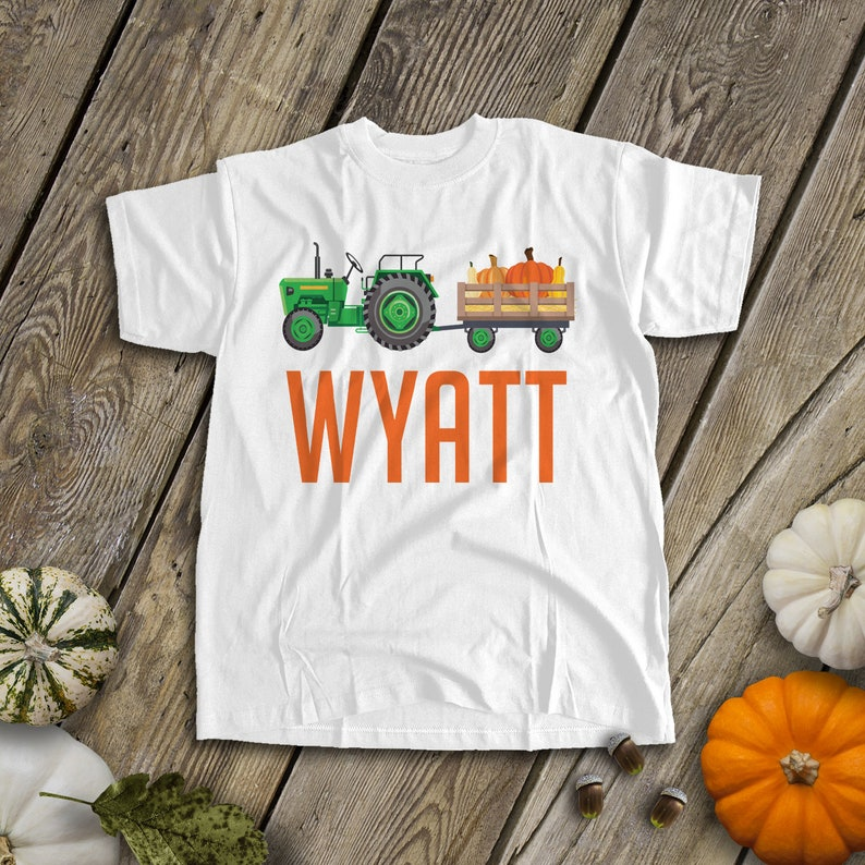 a45f6e53 Boys tractor shirt Fall green or red tractor personalized | Etsy