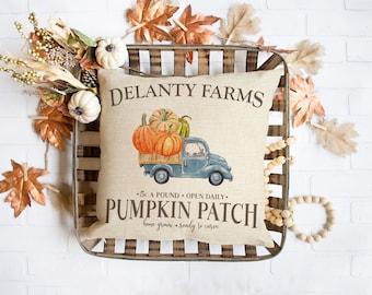 Halloween throw pillow   pumpkin patch farm halloween home decor fall throw pillowcase pillow   personalized autumn pillow pil-216-thw