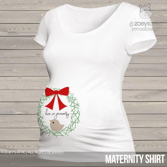 4597d77e Christmas belly print nesting bird long or short sleeve