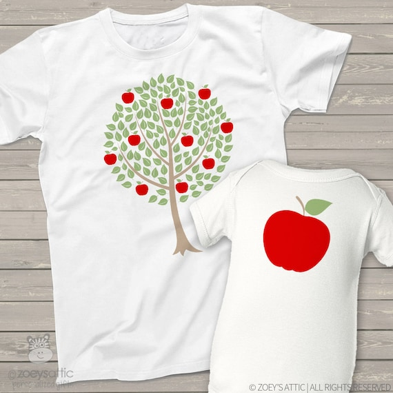 matching dad and kids t-shirts set of THREE - The acorn doesn't fall far from the tree father's day t-shirt sets shirts MDF1-018 jfKGp3Oq9s