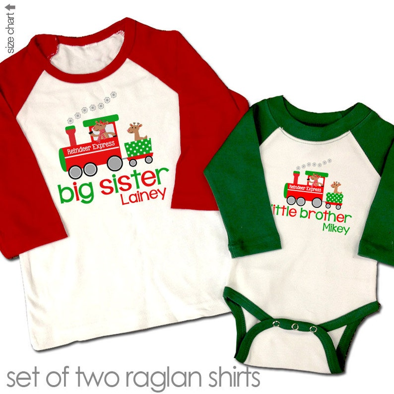 48c1ea14f Christmas big sister little brother or any combination | Etsy