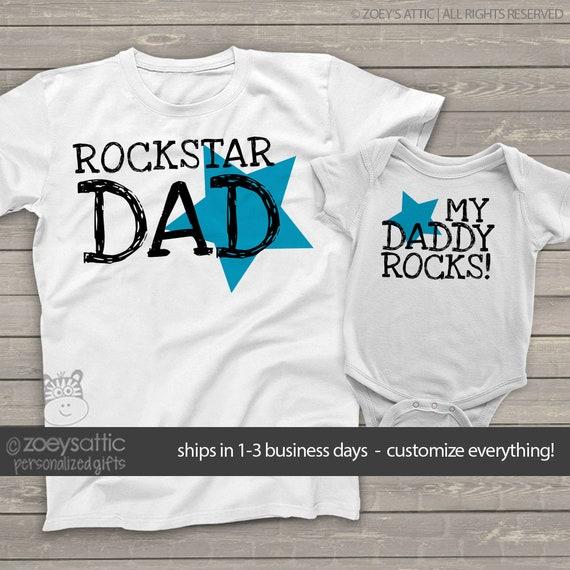 f6759d88 Rockstar dad my daddy rocks matching dad and kiddo t-shirt or | Etsy