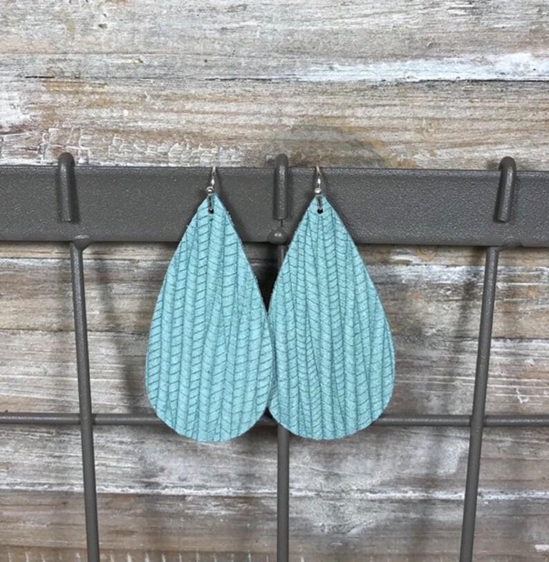 Spring Earrings Leather Earrings Trendy Earrings Teardrop Earrings Summer Earrings