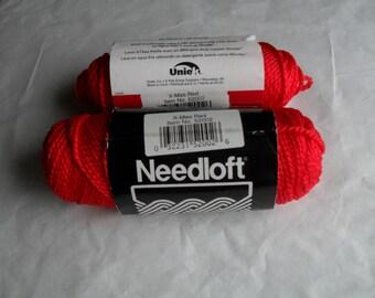 Needloft Plastic Canvas Yarn in Christmas Red 2