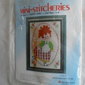 Counted Cross Stitch Embroidery Bucilla Stitchery Spice Bouquet Kit NIP