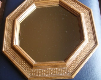 Mirror Octagon Wood Wooden