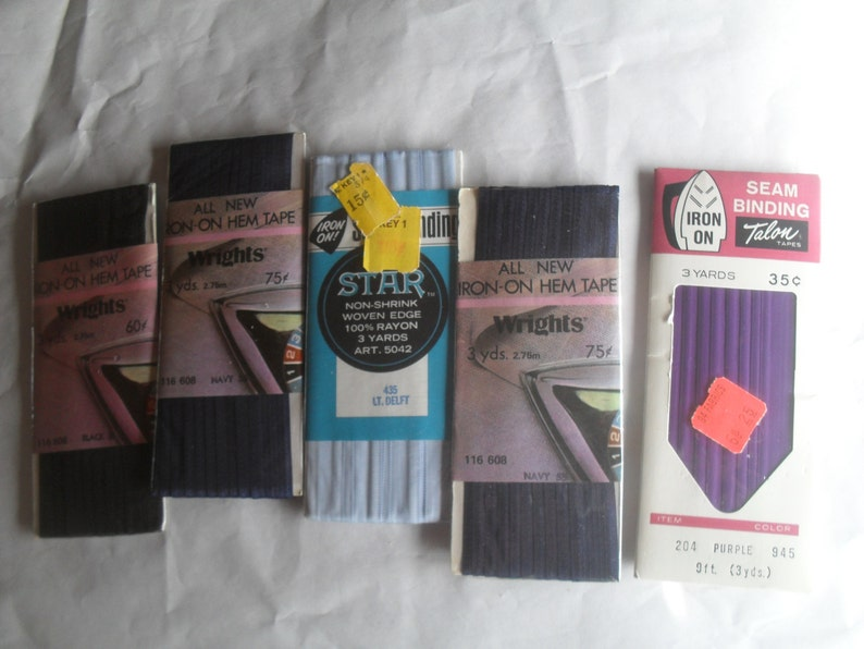 Seam Binding Hem Tape Nip Unopened Iron On Basic Colors Etsy