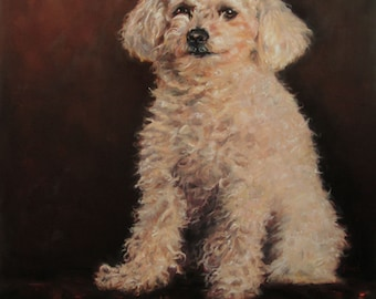 "OldWorldCharm, CUSTOM Oil Painting Portraits, pet portrait Oil Paintings by puci, 22x28"""