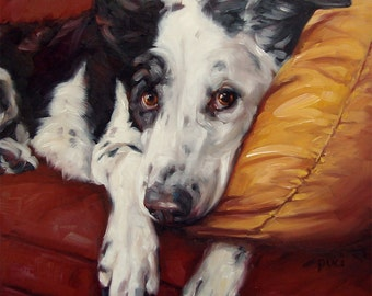 """Our BELOVED PETS, custom Pet Portrait Oil Paintings by puci, 12x12"""""""